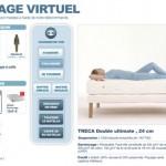 Vous disposez de vues plus techniques comme le dessin de la colonne vertébrale dans la position allongée ou une animation 3D pour montrer l'intérieur du matelas